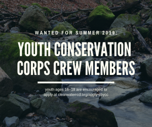 **EXPIRED** Job Opportunity: Clearwater Basin Youth Conservation Corps Crew Members (seasonal) (32 openings)