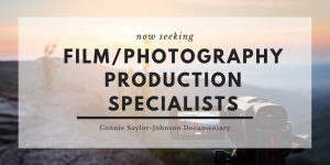 **EXPIRED** Request for Quotation & Qualifications: Service Provider – Film/Photography Production Specialists